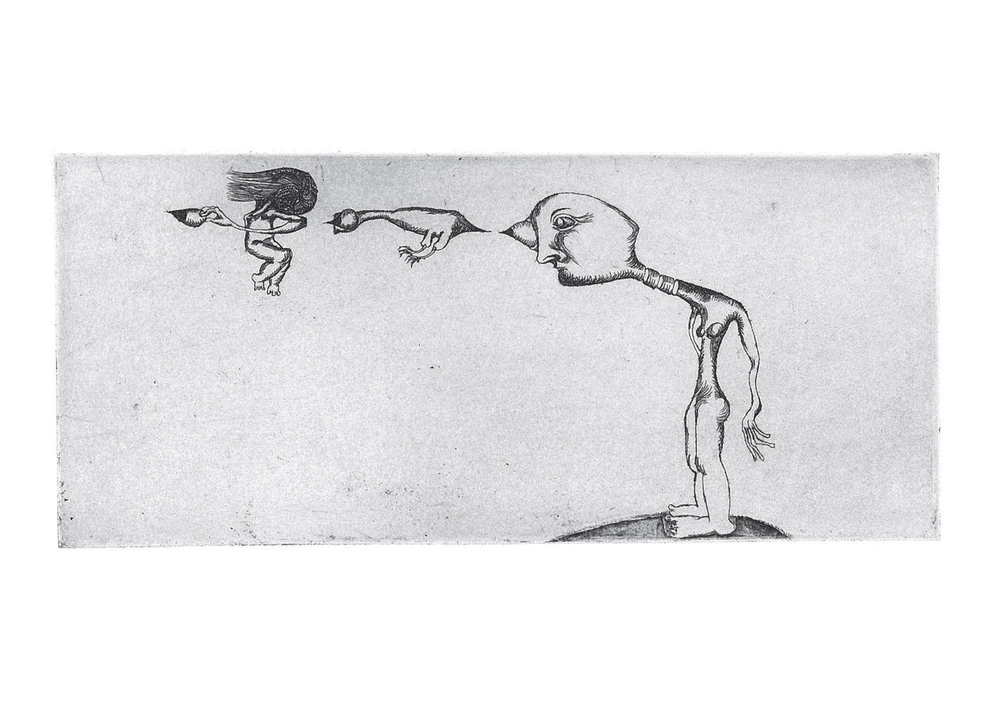 Lui - gravure de Sonja Hopf