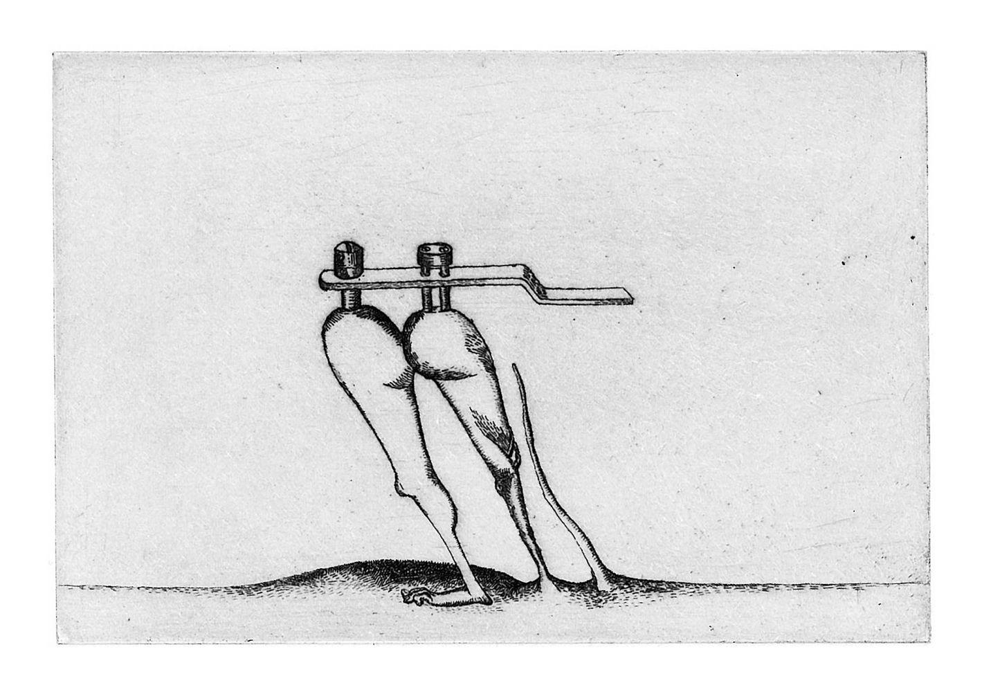 Saint-Germain-des-Prés - gravure de Sonja Hopf