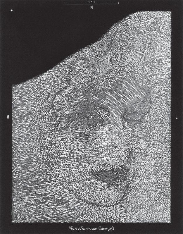 Marceline - gravure de Sonja Hopf