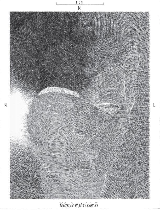 Yolande - gravure de Sonja Hopf