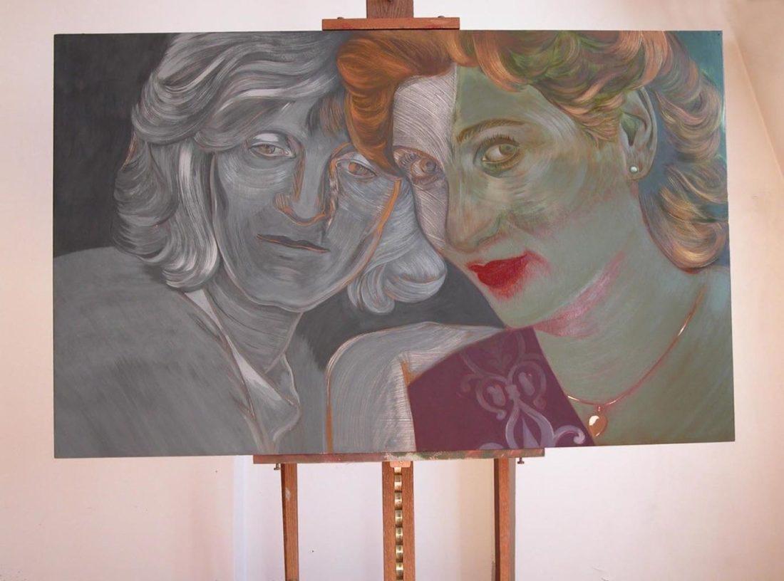 Peinture - Les Amies 1 - tempera et peinture à l'huile