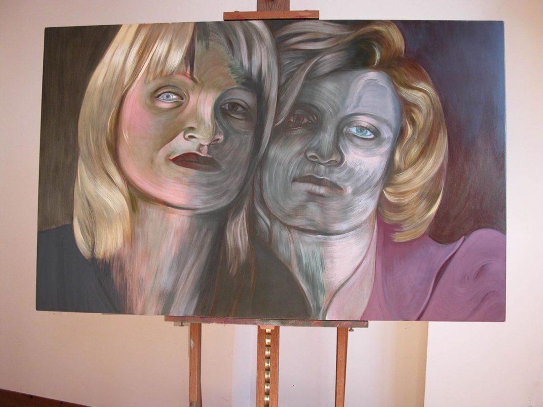 Peinture - Les Amies II - Tempera et peinture à l'huile